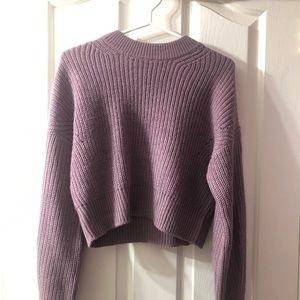Garage Deep lavender cropped sweater